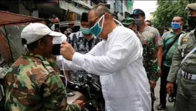 Razia Masker di Medan