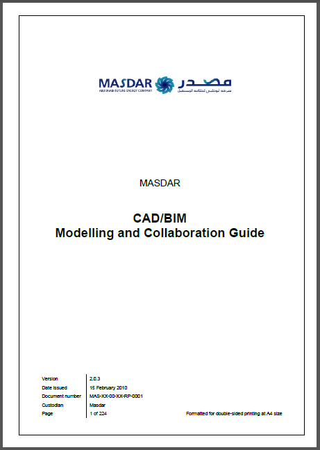 Masdar CAD-BIM Modelling And Collaboration Guide