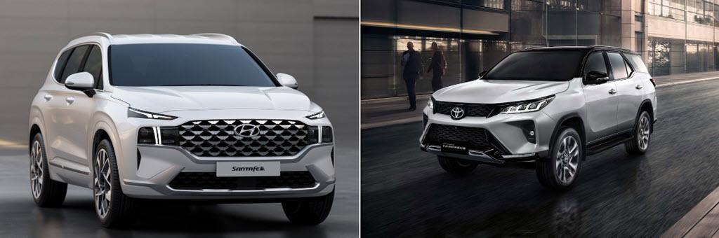 Cuộc đấu mới giữa Hyundai Santa Fe và Toyota Fortuner Legender