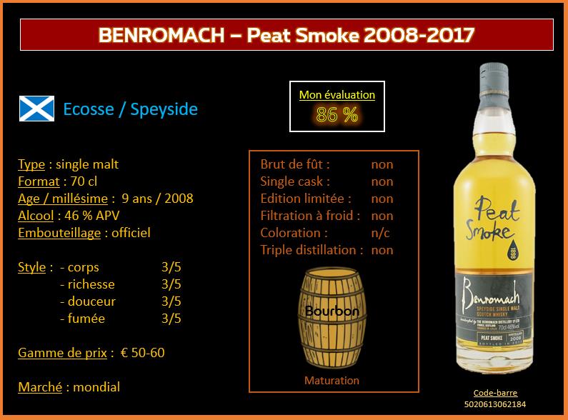 Review #760 : benromach – Peat Smoke 2008-2017