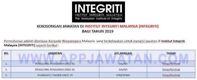 Institut Integriti Malaysia (INTEGRITI)