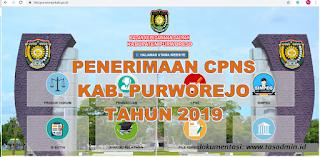 info perndaftaran cpns Purworejo Tahun 2019