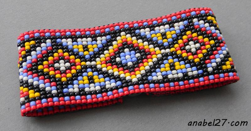 этнические украшения из бисера купить браслет ручной работы на руку