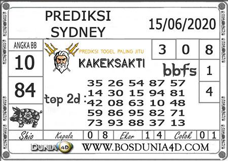 Prediksi Sydney Senin 15 Juni 2020 - Kakek Sakti