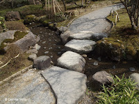 Stream crossing - Kenroku-en Garden, Kanazawa, Japan