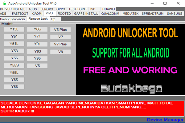 AUT - Android Unlocker Tool Support For All Android Devices