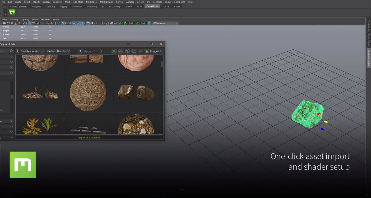 Quixel Megascans Plug-in for 3ds Max, Maya, Houdini, Modo