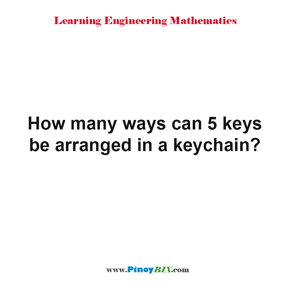 How many ways can 5 keys be arranged in a keychain?