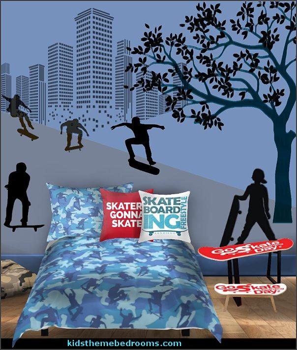 skateboarding  camouflage bedroom  Urban bedroom ideas - urban bedroom decor - urban bedrooms  skateboarder bedroom ideas - Skateboard bedroom decorations -
