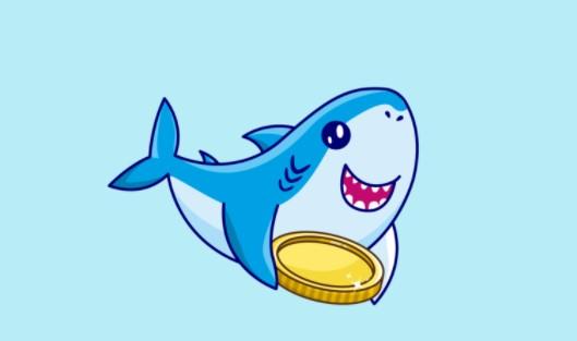 Ilustrasi Gambar Token Baby Shark Cryptocurrency