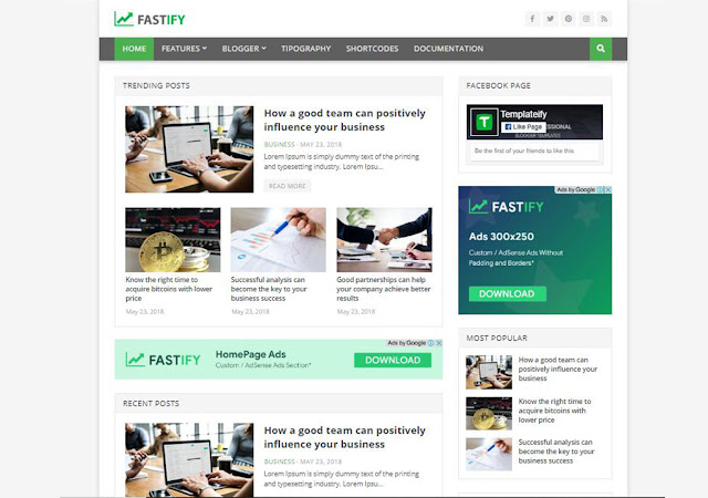Fastify Blogger Template, Blogger Templates, Blogger Theme, Templates, Fastify Responsive Blogger Template, Seo Optimized Theme, Best Template For Blogger