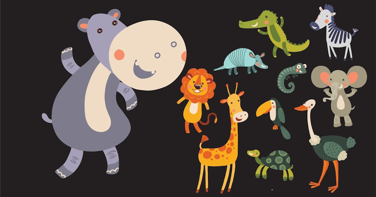Download Vector Funny collection of hand-drawn animals 100 ...