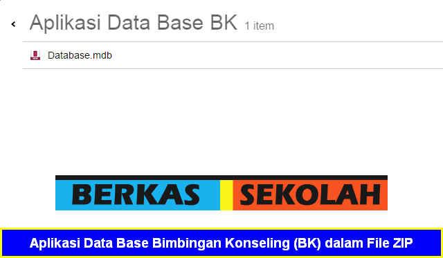 Aplikasi Data Base Bimbingan Konseling (BK) dalam File ZIP