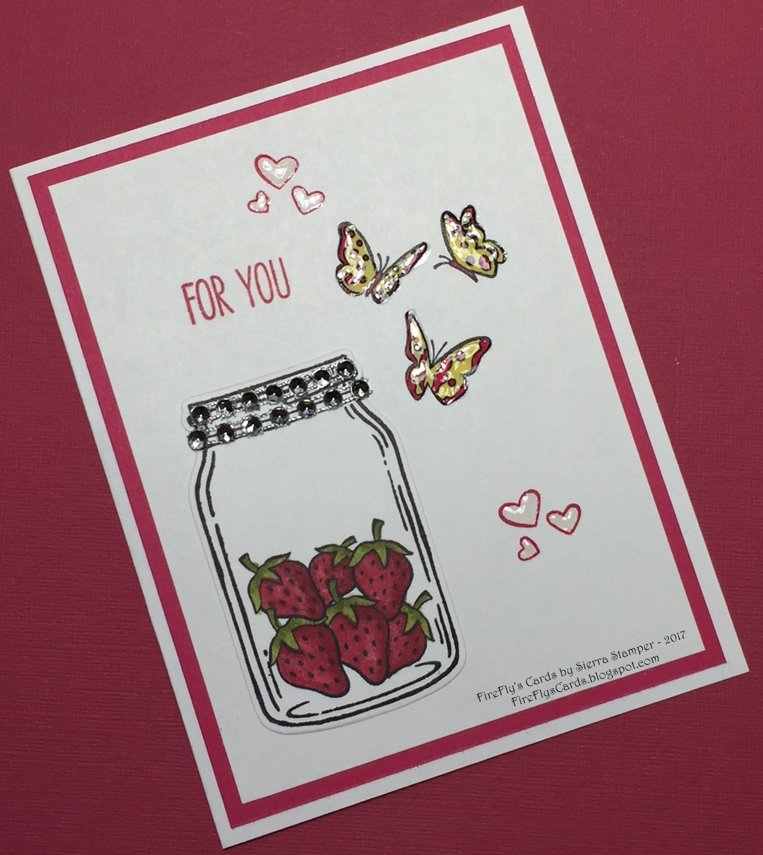 Fireflys Cards By Sierra Stamper Jar Of Love 141587