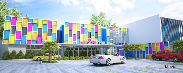 Desain Sekolah Palm Kids Bandar Lampung