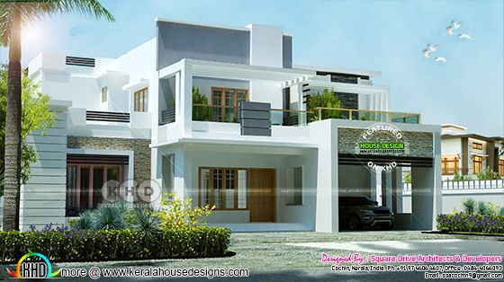 2650 square feet 4 bedroom modern contemporary house plan