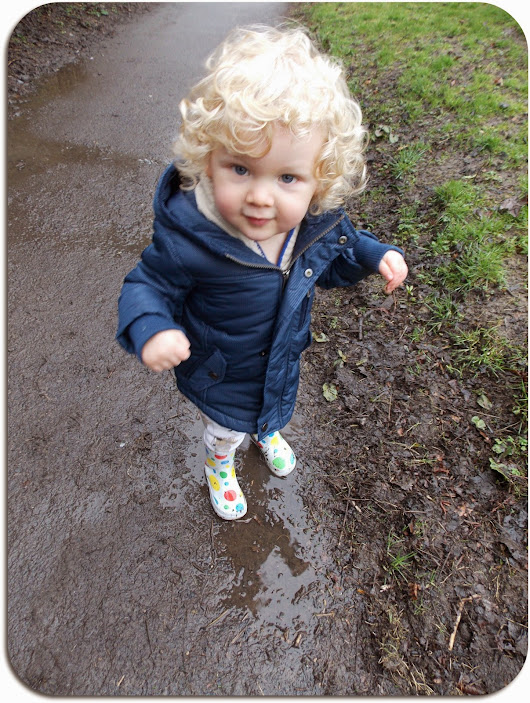 Puddle jumping in Cleadon Park.