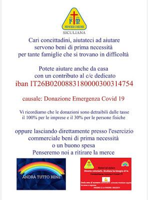 Donazioni alla Misericordia Siculiana per le famiglie in difficoltà