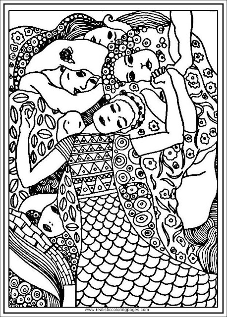 the virgin gustav klimt arts coloring pages for adults
