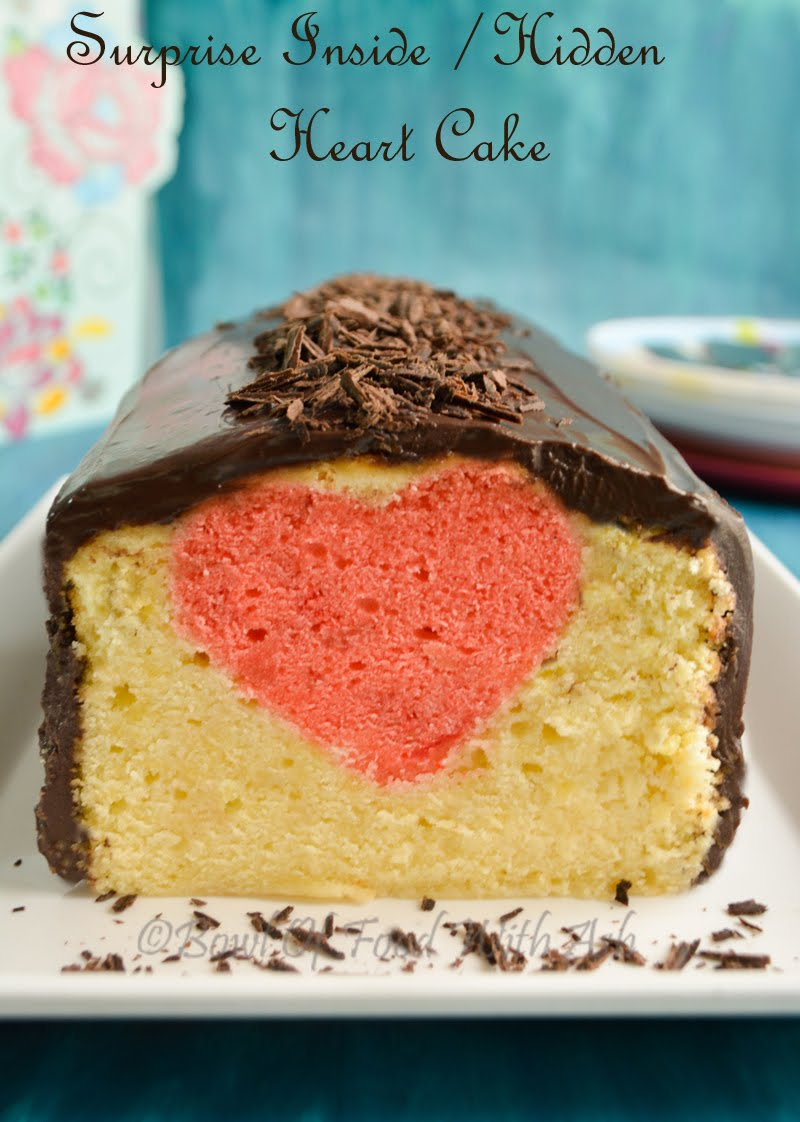 Surprise Inside Heart Cake Recipe | How to Make Hidden Heart Cake Recipe
