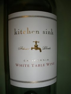 Big Blue And Wine Kitchen Sink White Blend