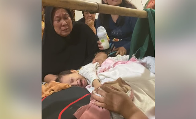 viral anak menangis disamping jenazah sang ibu