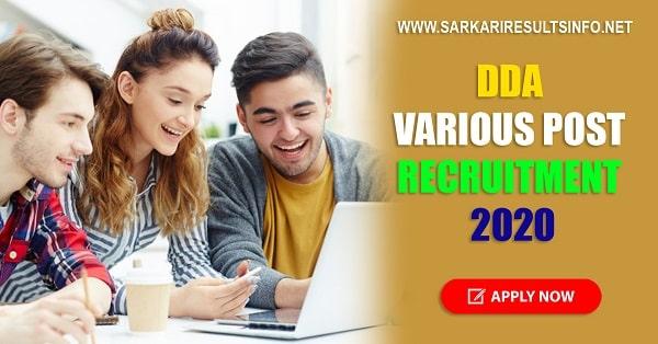 sarkari-results-Delhi-Development-Authority-Various-Post