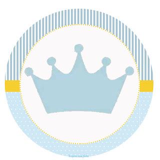 Toppers o Etiquetas para Imprimir Gratis de Corona Celeste.