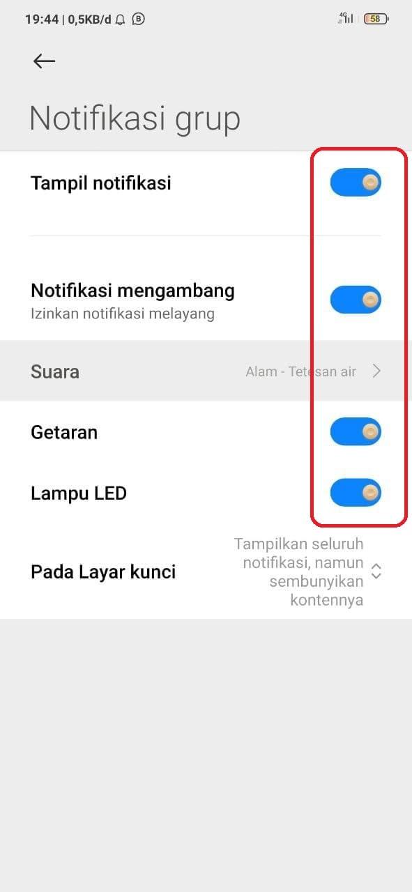 notifikasi wa bisnis tidak bunyi