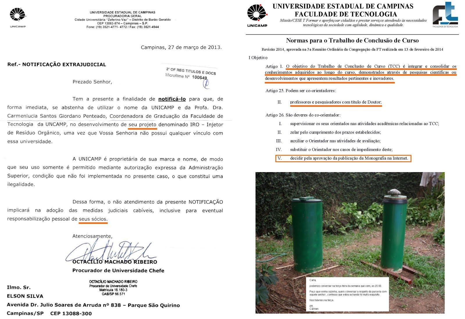 a77b9ee91 ... para aperfeiçoar e divulgar uma prática aparentemente simples proposta  por uma aluna da UNICAMP que resolve tantos problemas ambientais -  incorporação ...