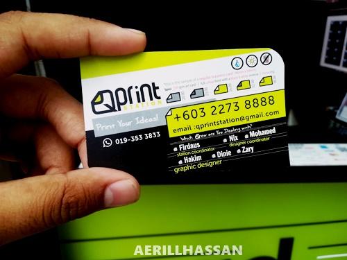 Buat Business Card Murah & Cepat di Q Print Station, KL Sentral, Kuala Lumpur