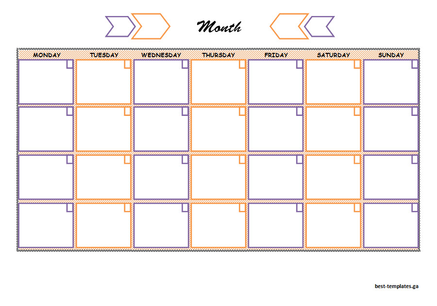 Colorful Monthly Study Schedule Template  Free Word Format  Best