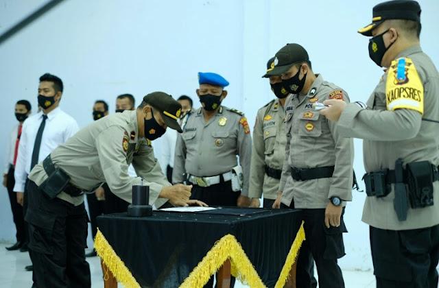 Polres Aceh Utara Gelar Apel Deklarasi Pencanangan Zona Integritas menuju WBK dan WBBM