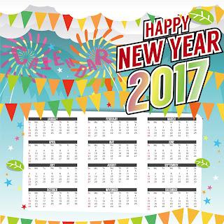 2017カレンダー無料テンプレート42