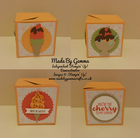Stampin'Up! poppin' Box card