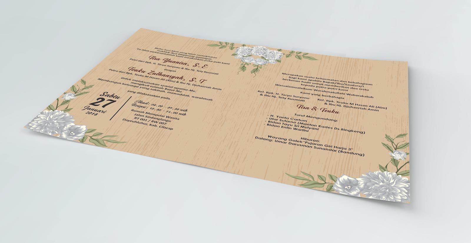 44 Ide Desain Undangan Pernikahan Cilacap Terbaik Yang Bisa Anda Tiru