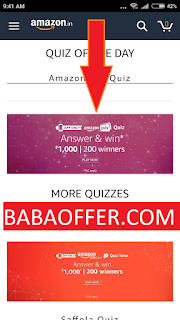 play and win all quiz answer amazon pay quiz