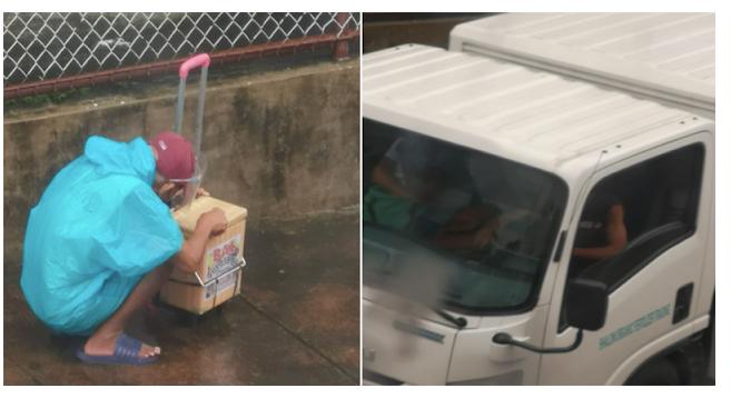 Sakay ng Delivery truck, pinakyaw ang Ice Cream na tinda ng lolo sa gitna ng ulan