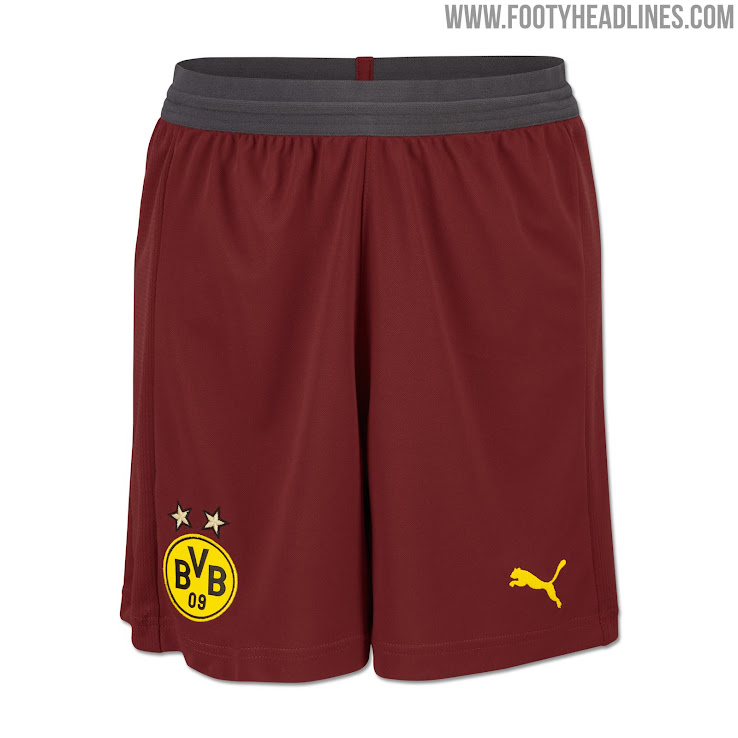 The new Dortmund 2018-19 third shirt is based on Puma s goalkeeper template  and features a cool maroon-yellow color combo. +2 da37fa09b