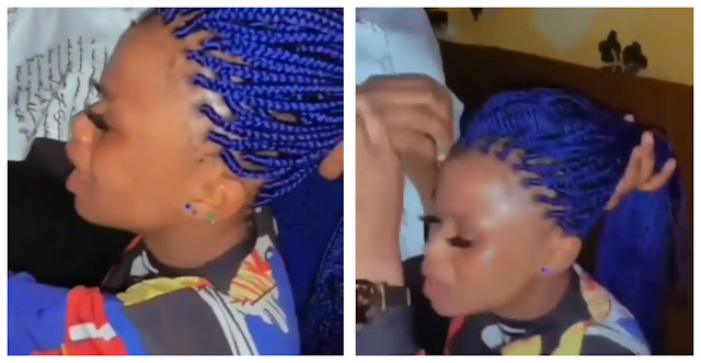 Watch the Moment a Lady Cries like a Baby over her Hairstyle (Video)
