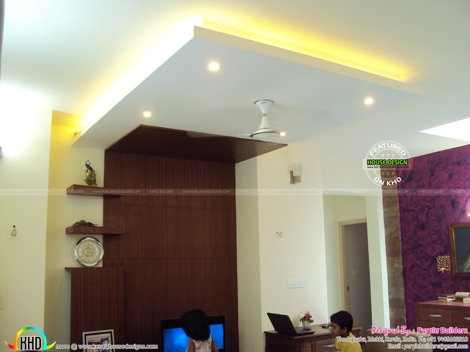 Kerala Home Front Elevation Pictures : Finished home with interior kerala design and floor