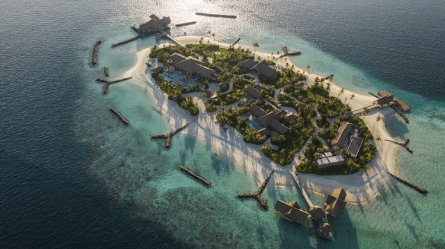 Inside the island has a cost of 80.000 USD per night
