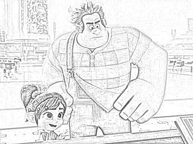 Coloring Pages: Ralph Breaks the Internet Coloring Pages