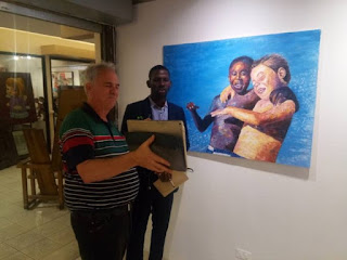 Nwobu E. Johnbosco, an Anambra-born Artist and First Black Man to Exhibit His Artworks in the Philippines