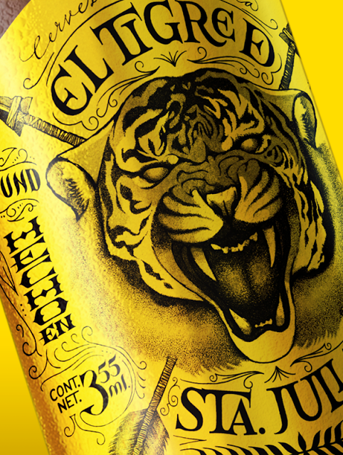 birra label packaging mktg tigre tiger design grafica estetica malto giallo naming