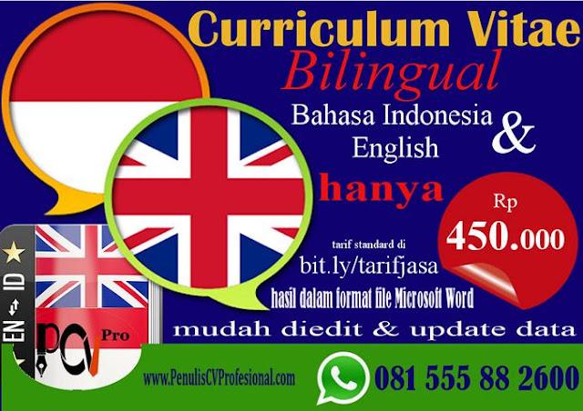 Jasa Pembuatan CV Bahasa Inggris