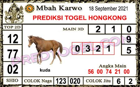 Prediksi Mbah Karwo Hk Sabtu 18 September 2021