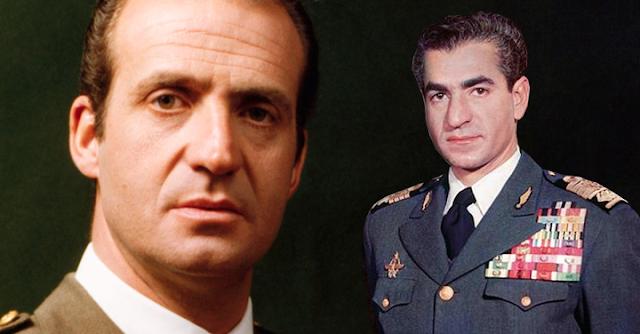 Juan Carlos y Reza Pahlevi