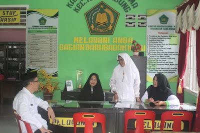 Kakankemenag Tanjungbalai Monitoring KUA Kecamatan Teluk Nibung