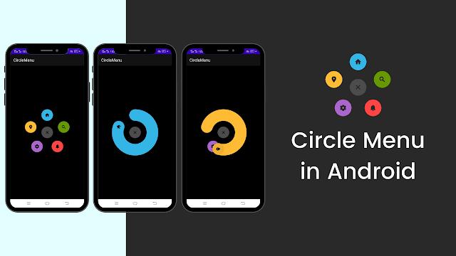 Circle Menu in Android   Android Studio   Java